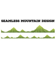 Seamless mountain range design vector image