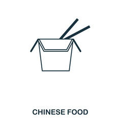 Simple outline chinese food icon pixel perfect vector
