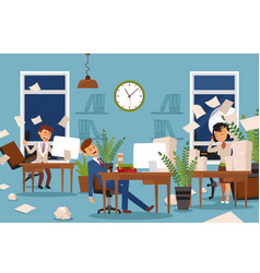 sleep problems for office workers who stayed vector image