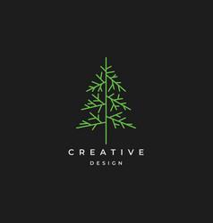 tree logo design symbol inspiration vector image