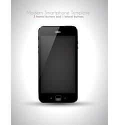Ultra Realistic modern touch smartphone template vector image