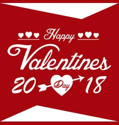 Valentine day red happy valentine day 2018 vector