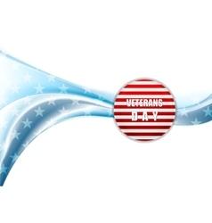Veterans Day design Wavy background vector image vector image
