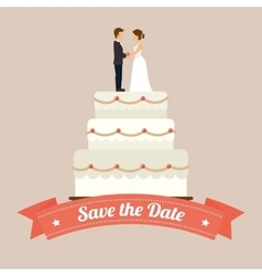 Wedding cute card vector image