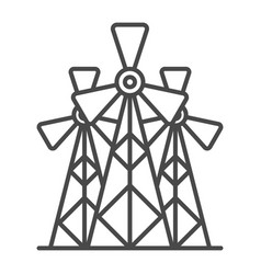 wind energy plant linear icon vector image