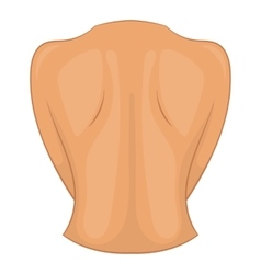 Woman back icon cartoon style vector
