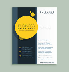 Yellow circle brochure design corporate business vector