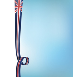 background with england flag vector image