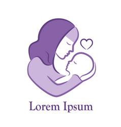muslim maternity emblem vector image vector image