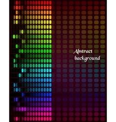 Rainbow Equalizer on dark background vector image