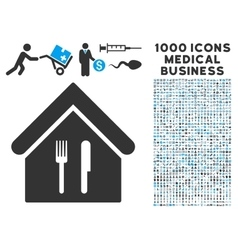 Restaurant Icon with 1000 Medical Business vector image