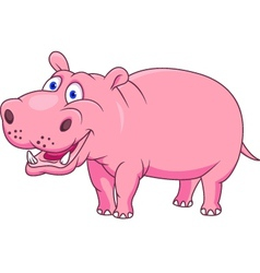 smiling hippo vector image