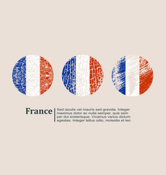 france flag design concept vector image