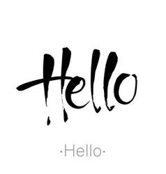hello handdraw lettering vector image vector image