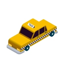 Isometric taxi icon vector image