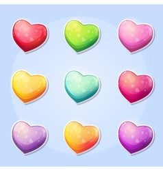 Set of hearts for a computer game Valentines Day vector image vector image