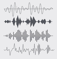 sound waves set Music vector image