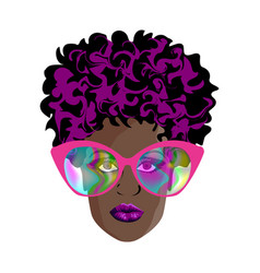 stylish fashionable woman vector image