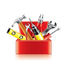 tools box isolated vector image vector image