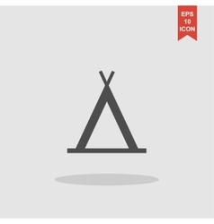 camp icon Flat design style vector image vector image