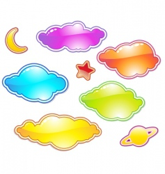 color clouds vector image vector image