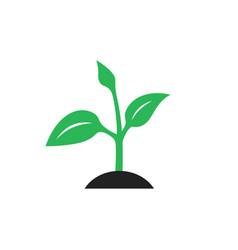 ecology logo - green design vector image