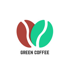 green coffee logo like beans vector image