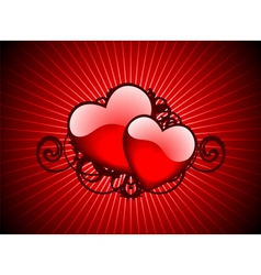 lovely hearths vector image vector image