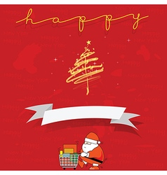 Santa Clause shopping for give out Cristmas and vector image vector image