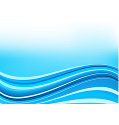 Blue and white waves background vector image vector image