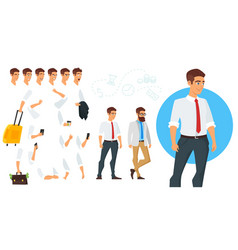 constructor of businessman character vector image