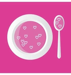 hearts soup vector image