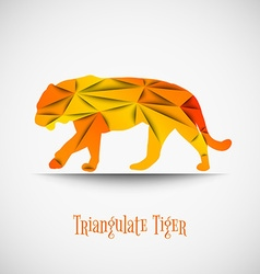 orange triangulate tiger vector image vector image