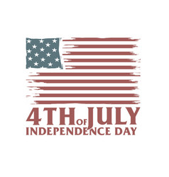 4th july independence day america freedom vector image