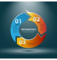 Abstract 3D Infographics for vector image