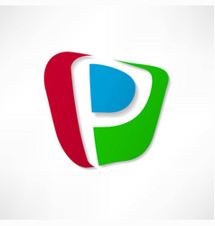 Abstract icon based on the letter p vector