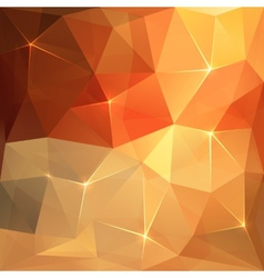 Abstract triangles orange background vector