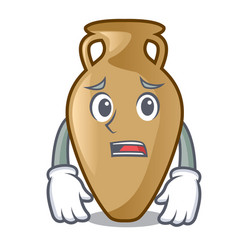 Afraid amphora mascot cartoon style vector