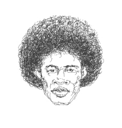 Afroamerican man hand drawn eps8 vector