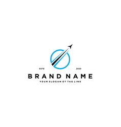 Airplane travel logo design vector