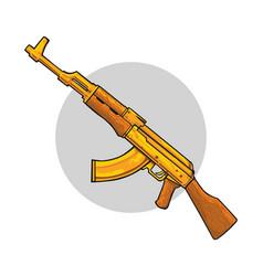 Ak 47 assault rifle art vector
