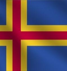 Aland flag vector