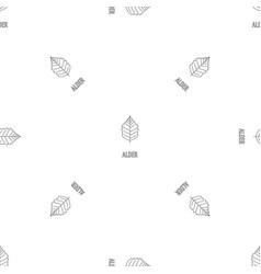 alder leaf pattern seamless vector image