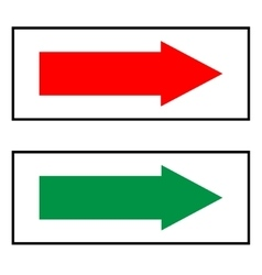 Arrow sign red and green icon isolated on white vector image