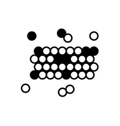 bacteria and germs icon in thin line style vector image