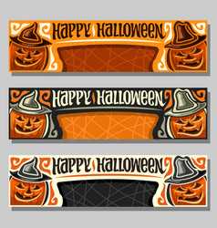 Banners for halloween vector