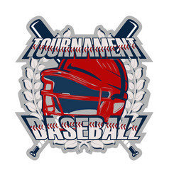 baseball badge tournament vector image