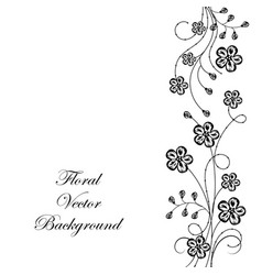 Beeautiful floral background in black and white vector