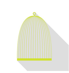 Bird cage sign pear icon with flat style shadow vector