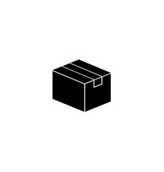 box package parcel flat icon vector image